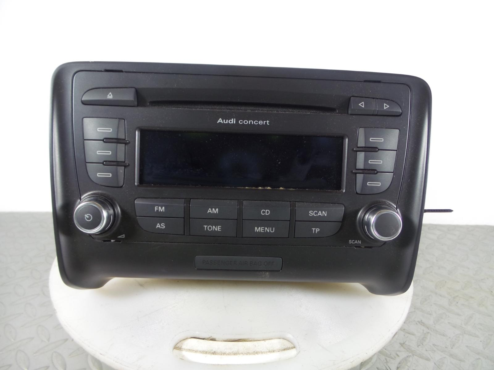 2007 audi tt 8j 2006 2014 concert ii cd player radio code. Black Bedroom Furniture Sets. Home Design Ideas