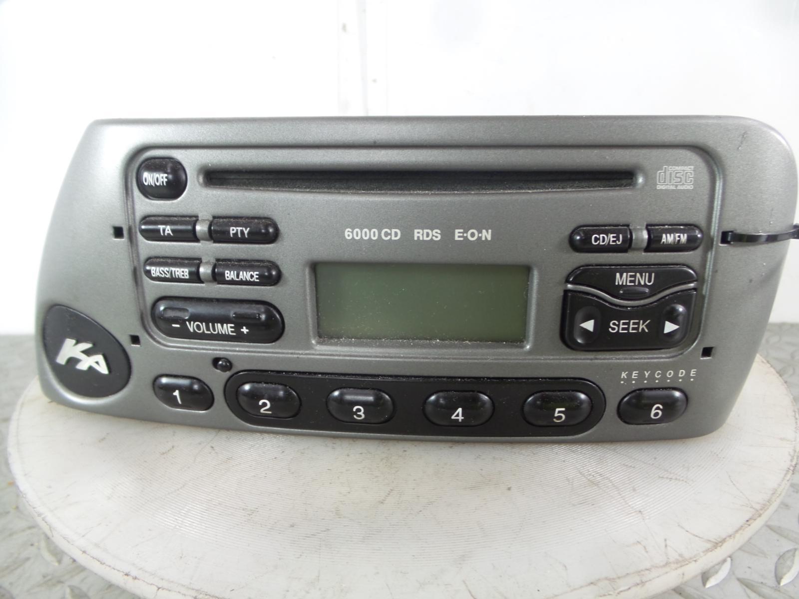 2004 ford ka mk1 96 08 silver cd player radio code 3s51 18c815 bd. Black Bedroom Furniture Sets. Home Design Ideas